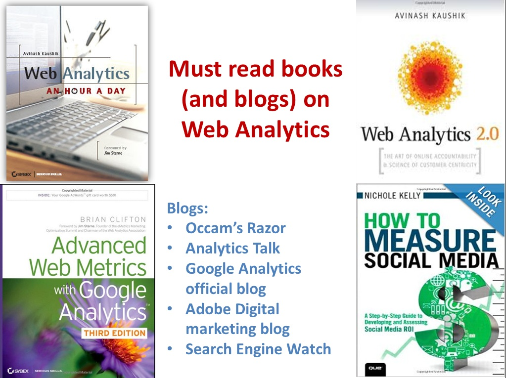 Must read books (and blogs) on Web Analytics