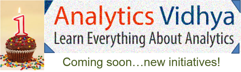 Excitement going up at Analytics Vidhya (and I can't stop smiling)!