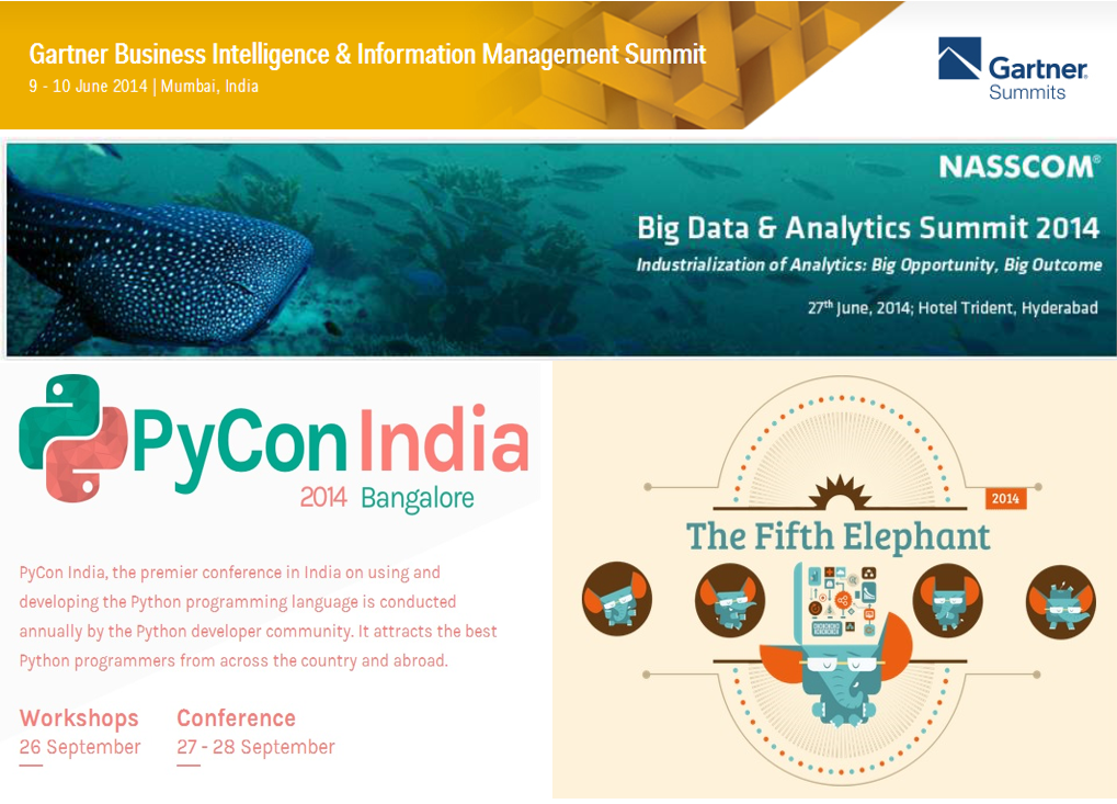 Analytics events in 2014 – India and abroad