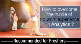 The lack of analytics work experience and how to overcome it?