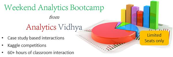 Analytics Vidhya Bootcamp