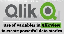 Use of variables in QlikView to create powerful data stories